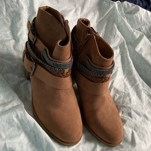 H&M Divided Brown Coachella Boots